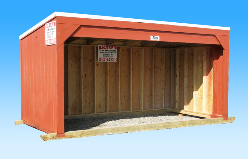 Portable open faced horse barn